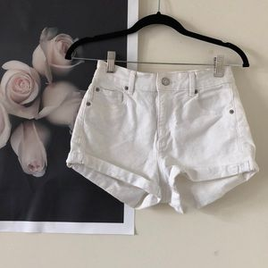 GARAGE white denim shorts